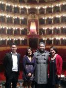 ベッリーニ歌劇場にて。。。。